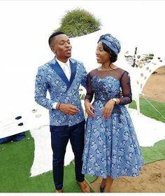 Newest Tswana Traditional Dresses for Bridesmaids - isishweshwe