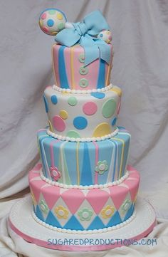 Cute for a twin shower or gender reveal party