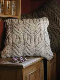 Rutland Chunky Cable Cushion