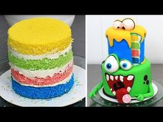 7292e7c7a935cb Halloween MONSTERS Cake   How To Make by Cakes StepbyStep