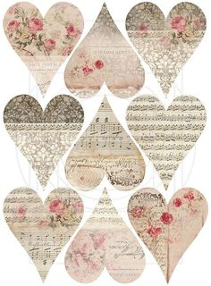 Paper heart prints