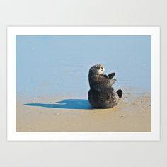 Sea Otter Hey  Art Print by Ooh! Look! Photography  - $30.00 Otter Love, Sea Otter, Otters, Art Prints, Photography, Animals, Art Impressions, Photograph, Animales