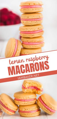 The perfect addition to your holiday baking list! Lemon Raspberry Macarons is an impressive dessert for kids and adults. It has the perfect classic French Macaron smooth crisp shell and chewy center with a delicious raspberry lemon buttercream filling. Perfect as a tasty Thanksgiving dessert too!
