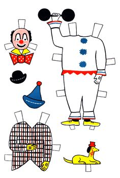 Circus Sam Paper Doll | Purple Kitty