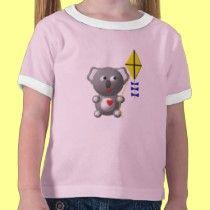 Cute Koala flying a kite t-shirts by cutecrittersheart