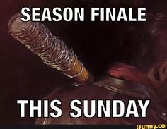 This Sunday.Lucille and Negan Walking Dead Tv Series, Fear The Walking Dead, Rip Glenn, Dead Inside, Sunday, Zombies, Fangirl, Fans, Posters