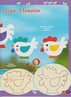 Super-süsse Fensterbilder - jana rakovska - Λευκώματα Iστού Picasa Daycare Crafts, Cat Crafts, Easter Art, Easter Crafts, Art For Kids, Crafts For Kids, Farm Animal Crafts, Chickens And Roosters, Farm Theme