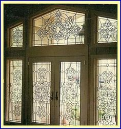 leaded glass designs for doors - Google Search