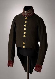 Uniform jacket of H.T. Verhoef, medical officer in Napoleon's army