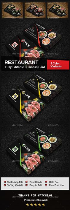 Restaurant Business Card | Business cards, Business and Card templates
