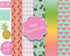 Friday's  Guest Freebies ~ Trim Craft  ✿ Follow the Free Digital Scrapbook board for daily freebies: https://www.pinterest.com/sherylcsjohnson/free-digital-scrapbook/ ✿ Visit GrannyEnchanted.Com for thousands of digital scrapbook freebies. ✿  Free Trimcraft Printable Summer Papers & Tags with Craft Tutorial
