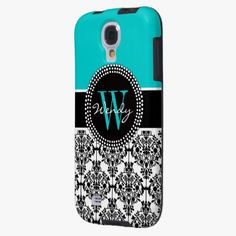 Awesome! This Personalized Initial Aqua Teal Black Damask is completely customizable and ready to be personalized or purchased as is. It's a perfect gift for you or your friends.