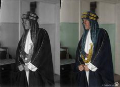 TE Lawrence in Cairo wearing Arab dress photographed by Lowell Thomas 1918.