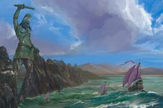 From Braavos to King's Landing to the Vale and beyond, concept artist Paolo Puggioni drew landscapes of places all over the world of George R.R. Martin's A Song of Ice and Fire. He's put some of his work for the art book The World of Ice and Fireup on his website, and they are gorgeous.