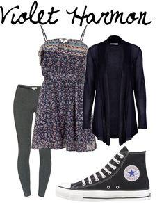 """Violet Harmon"" by sad-samantha ❤ liked on Polyvore"