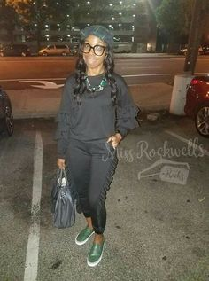 Should I RESTOCK this super POPULAR 'Aaliyah' Jogger Set??  My fashionista sis Andrea Summerville ROCKED WELL in hers for her birthday weekend.   Also available in BURGUNDY and OLIVE!  PREORDER YOURS today --->missrockwellsracks.storenvy.com