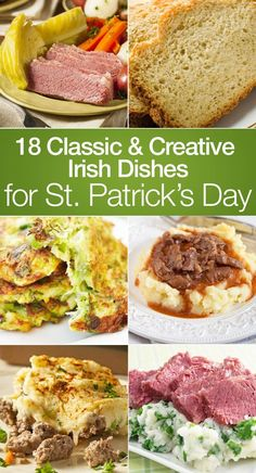 18 Classic Irish Recipes for St. Patrick's Day including Corned Beef and Cabbage, Irish Breakfast Bap, Irish Soda Farls Griddle Bread, Colcannon, Irish Champ, Shepherd's Pie, Dublin Lawyer with Rice, Guinness Beef Stew, Irish Nachos, Beer Bread, Corned Beef Brisket, Dublin Coddle, and more!