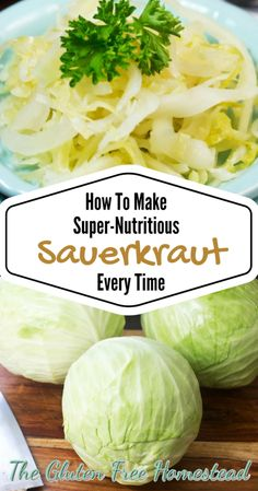 Here is an easy tutorial with beautiful photos showing how to make sauerkraut and restore gut health. My family loves delicious homemade sauerkraut . Homemade Sauerkraut, Sauerkraut Recipes, Cabbage Recipes, Making Sauerkraut, Potato Recipes, Soup Recipes, Chicken Recipes, Fermentation Recipes, Canning Recipes