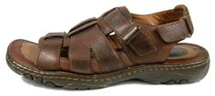 Born Sandals Solid Brown Leather Ankle Strap Shoes Mens Size 10 M #Brn #Strap