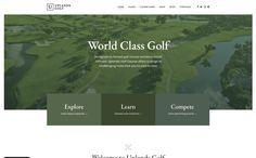 The Best Designs - Web Design Inspiration Form Builder, Premium Wordpress Themes, Web Design Inspiration, Golf Courses, Cool Designs, Explore, Website, Exploring