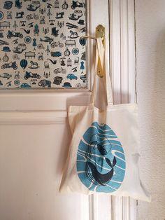 Ying yang whales tote bag