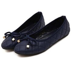 Womens Blue Armani-Inspired Leather Flat Canvas Shoes