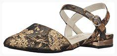 Anne Klein Women's Odell Fabric Ballet Flat, Dark Grey/Gold/Multi, 9.5 M US (*Partner Link)