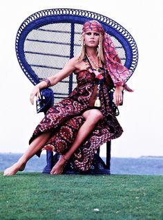 Brigitte Bardot photographed by Ghislain 'Jicky' Dussart, 1968.