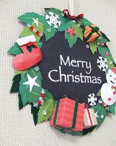 クリスマスの壁掛けオーナメント☆画像1 Quilling Christmas, Christmas Paper Crafts, Kids Christmas, Vintage Christmas, Christmas Wreaths, Christmas Cards, Christmas Decorations, Xmas, Christmas Ornaments