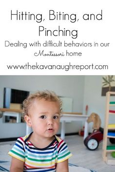 Responding to aggressive behaviors in our Montessori home - how do we deal with hitting, biting, and pinching as a Montessori parent? The Effective Pictures We Offer You About Montessori Education cla Montessori Education, Montessori Toddler, Montessori Activities, Toddler Activities, Montessori Bedroom, Baby Education, Education Quotes, Family Activities, Gentle Parenting