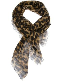 ALEXANDER MCQUEEN leopard and skull print scarf