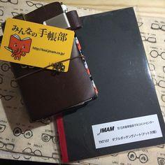 #みんなの手帳部 会員証とダブルポッチングノートが来たよ(o^^o) #能率手帳 #トラベラーズノートパスポート