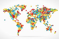 World map by puzzle pieces , Explore Travel, Puzzle Pieces, Royalty Free Images, Travel Photos, Sprinkles, Infographic, Clip Art, Animals Photos, Stock Photos