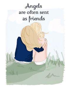 Engel werden oft als Freunde geschickt. ---- Angels are often sent as friends.