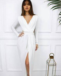 Celebirty Inspired Sukienka Hanah (złamana biel) Idealna sukienka na wesele, ślub cywilny, studniówkę