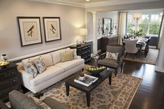 Hawthorn Woods Columbia Den - contemporary - living room - chicago - Mary Cook