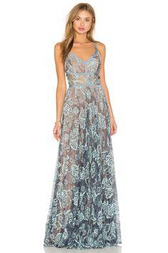 Alexis Isabella Gown en Light Blue Lace   REVOLVE