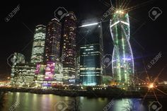 Famous And Beautiful Night View Skyscrapers City International ...