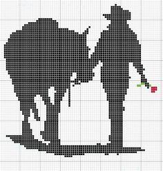 Gráficos ponto cruz da drica: Motivos Country Cross Stitch Horse, Cross Stitch Charts, Cross Stitch Patterns, Charlie E Lolla, Ben E Holly, Cross Stitch Silhouette, Crochet Horse, Tapestry Crochet Patterns, Fillet Crochet