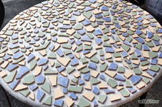 Image titled Make a Mosaic Table Top Step 5 - Patio Table - Ideas of Patio Table Mosaic Outdoor Table, Mosaic Tile Table, Outdoor Table Tops, Tile Tables, Mosaic Diy, Mosaic Garden, Mosaic Crafts, Mosaic Glass, Mosaic Table Tops