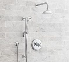 Shop warby pressure balance cross-handle hand-held shower faucet set from Pottery Barn. Our furniture, home decor and accessories collections feature warby pressure balance cross-handle hand-held shower faucet set in quality materials and classic st Shower Faucet, Shower Set, Pottery Barn Bath, Shower Tub, Hand Held Shower, Bath Faucet, Shower Faucet Sets, Bathtub Faucet, Bathroom Fixtures