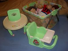 VINTAGE 1978-83 CABBAGE PATCH KIDS,STROLER,CAR SEAT, PLAY PEN ,ACCESSORIES #CarriagesStrollersDollsSeat