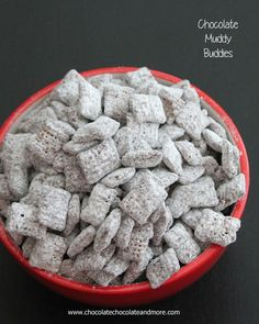 Chocolate Muddy Buddies (also called Puppy Chow) great to serve as parties or as a snack! Also some tips on using Facebook.