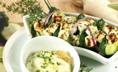 Zucchini-Feta-Auflauf mit Porree