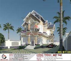 Tư vấn thiết kế biệt thự đẹp hiện đại mặt tiền 6m - Phong thủy biệt thự