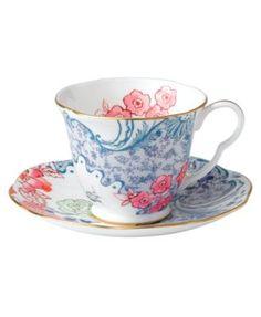 Wedgwood Dinnerware, Spring Blossom Cup and Saucer | macys.com