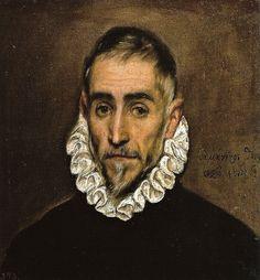 El Greco - Caballero anciano, 1600 at Museo Nacional del Prado Madrid Spain
