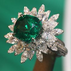 Piaget Emerald and Diamond Ring