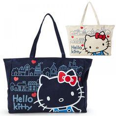 Sanrio Hello Kitty canvas big tote bag unbleached Japan New | eBay