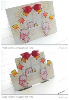 MFT hog heaven stamp set card - she used the flop die to make an easel card - bjl
